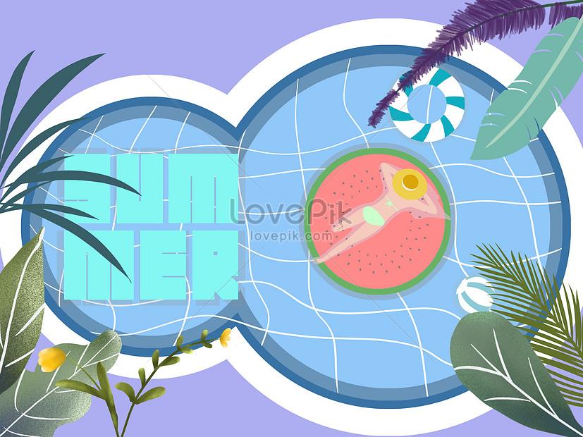 夏のプール夏のクールなイラスト新鮮イメージ図 Id 401209628prf画像