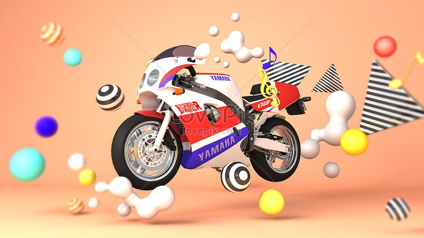 Escena De Motos De Dibujos Animados De Carreras Imagen Descargarprf