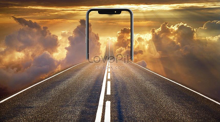 โทรศัพท์มือถือถ่ายรูปผ่านทะเลเมฆ
