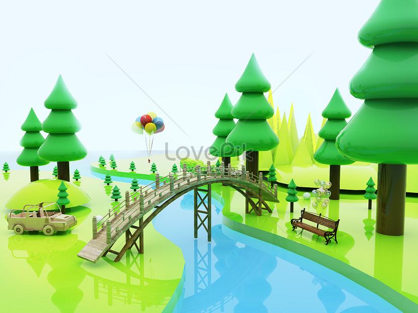 ฉากป่าที่สร้างสรรค์