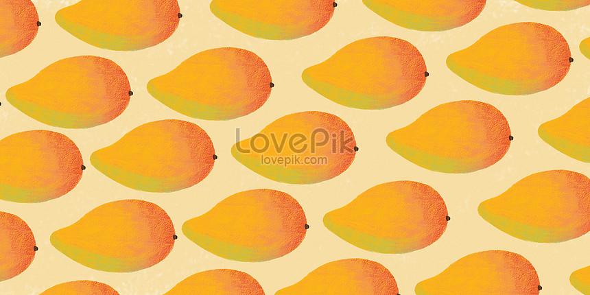 夏天水果背景芒果