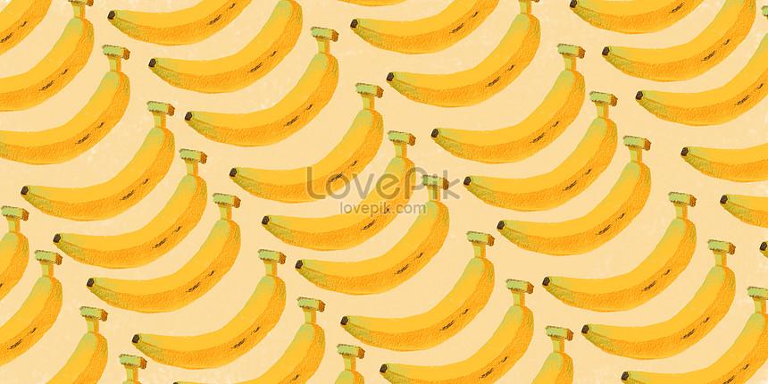 夏天水果背景香蕉