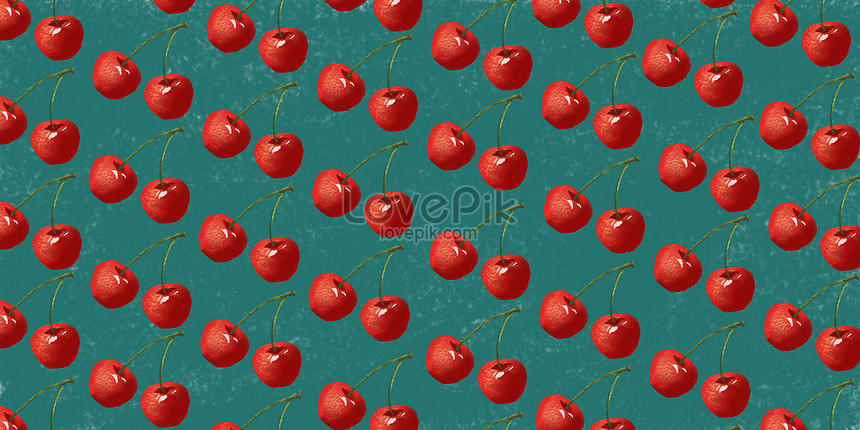summer fruit background cherry