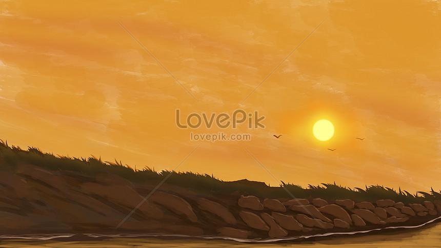 Senja Matahari Terbenam Gambar Unduh Gratis Imej 401245049 Format