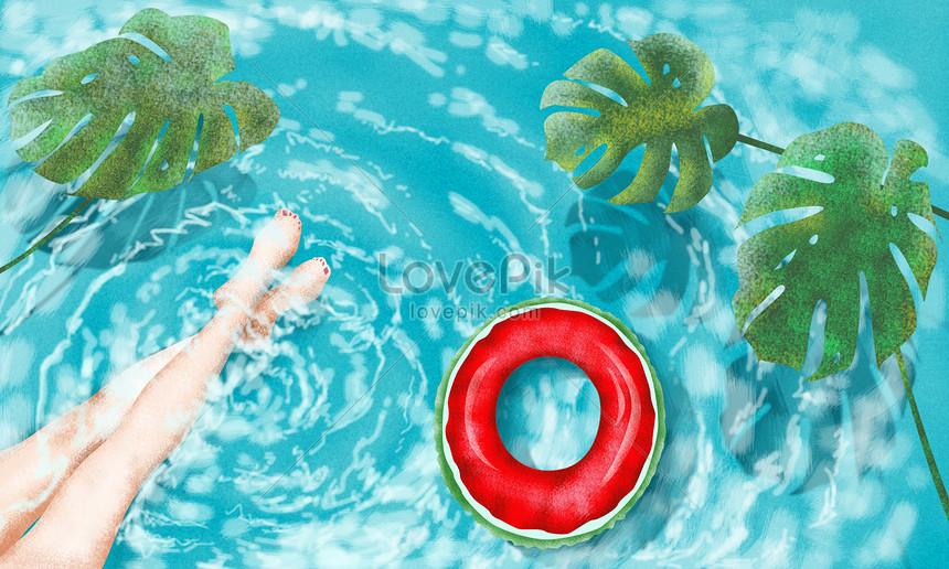 cool summer pool
