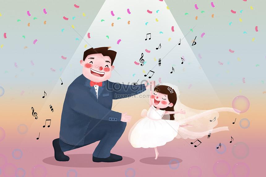 Hari Ayah Ayah Dan Anak Perempuan Menari Gambar Unduh Gratis Imej 401267314 Format Psd My Lovepik Com