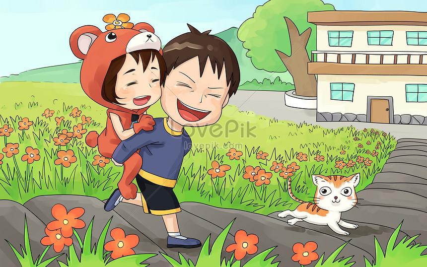 Ayah Dan Anak Perempuan Gambar Unduh Gratis Imej 401292811 Format Psd My Lovepik Com