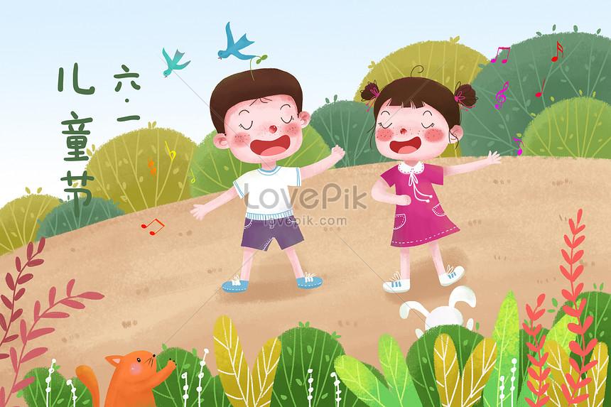 children celebrate childrens day