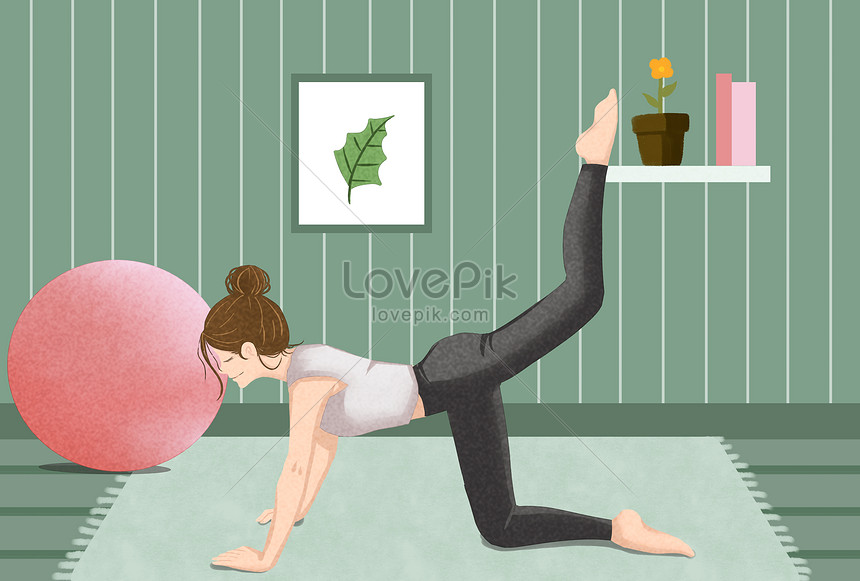 Weight Loss Yoga Illustration Image Picture Free Download 401402276 Lovepik Com