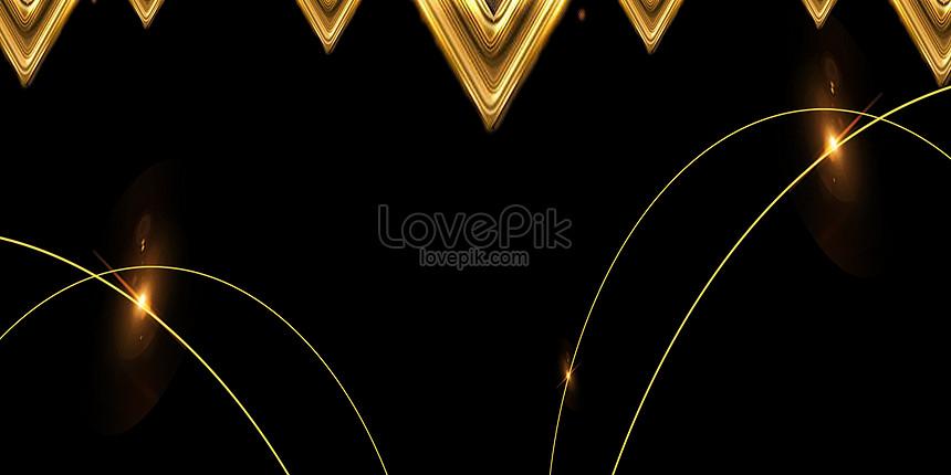 minimalistic black gold background