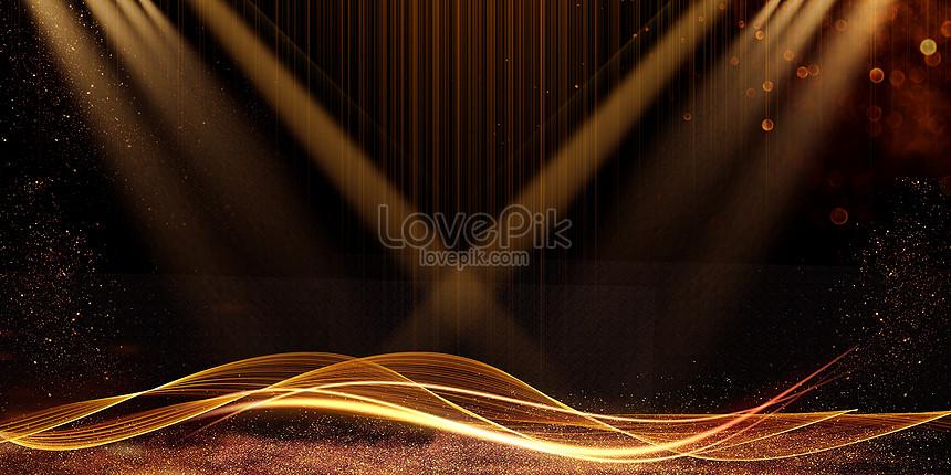 atmospheric black gold background