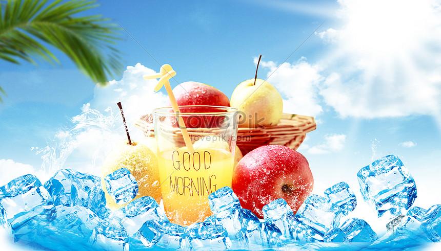 cool summer juice background