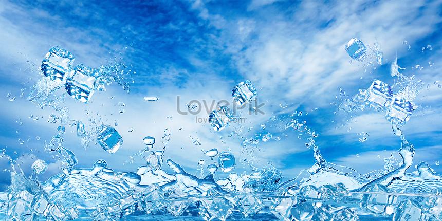 Latar Belakang Es Batu Biru Gambar Unduh Gratis_ Latar Belakang  401524408_Format Gambar PSD_lovepik.com