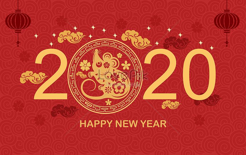 rat year chinese new year illustration