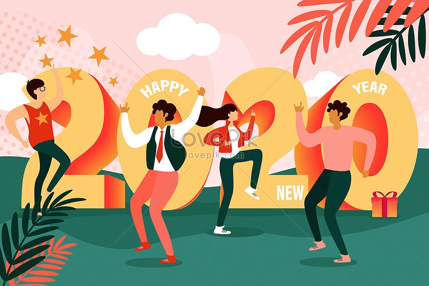 2020 happy dancing new year