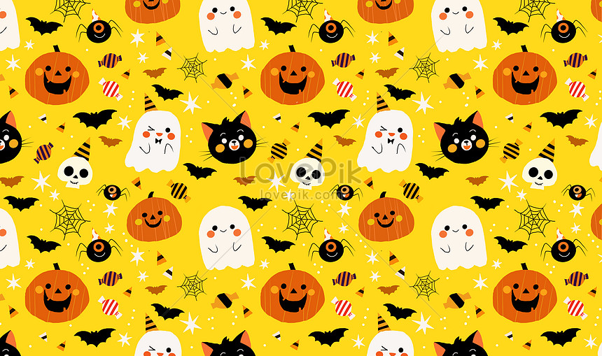 Cute Halloween Backgrounds.Cute Halloween Background Illustration Image Picture Free Download 401639273 Lovepik Com