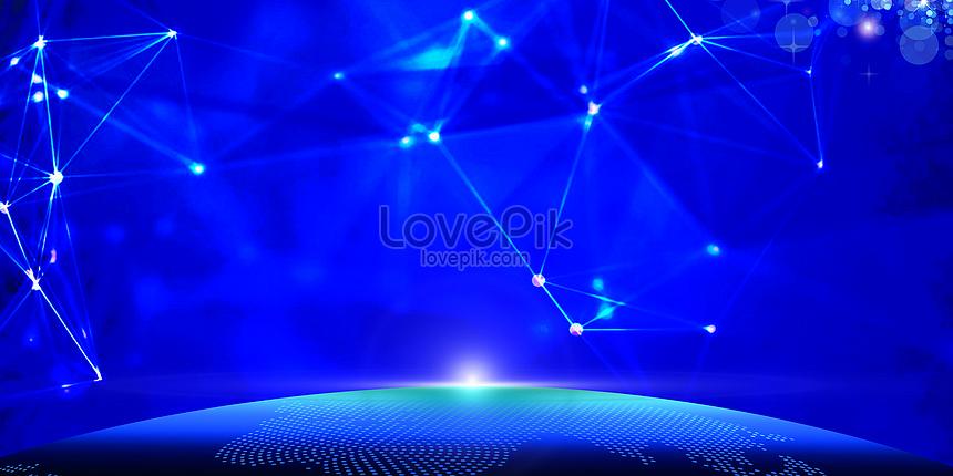 blue lines tech background