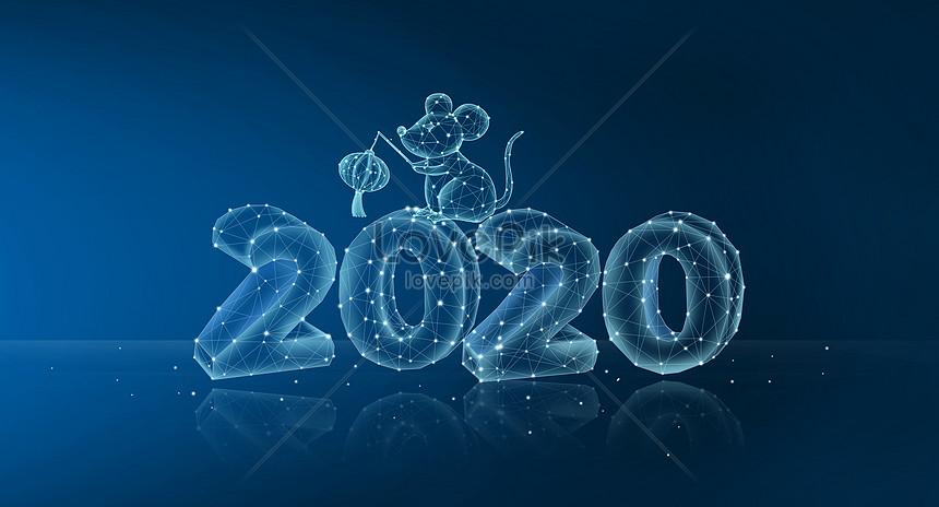 latar belakang garis teknologi tahun 2020 tikus