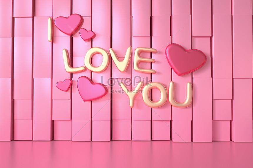 latar belakang valentine merah jambu