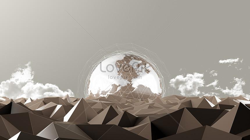 抽象地球場景