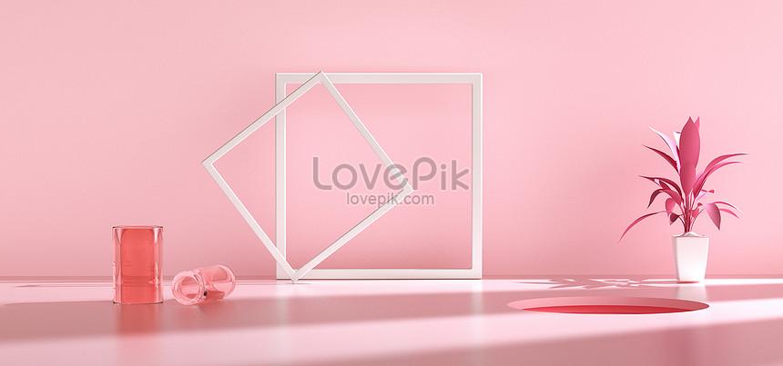 pink fresh e commerce background