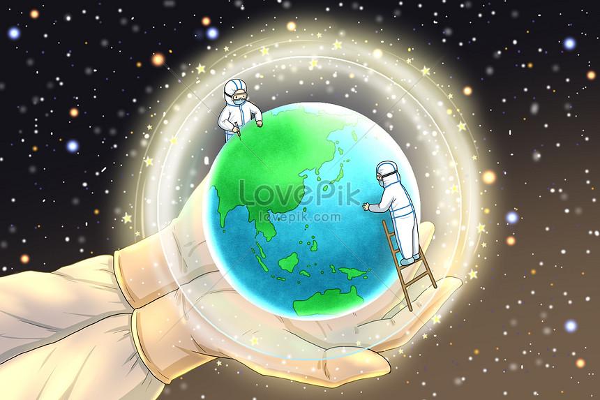 epidemia de guerra global protege a terra