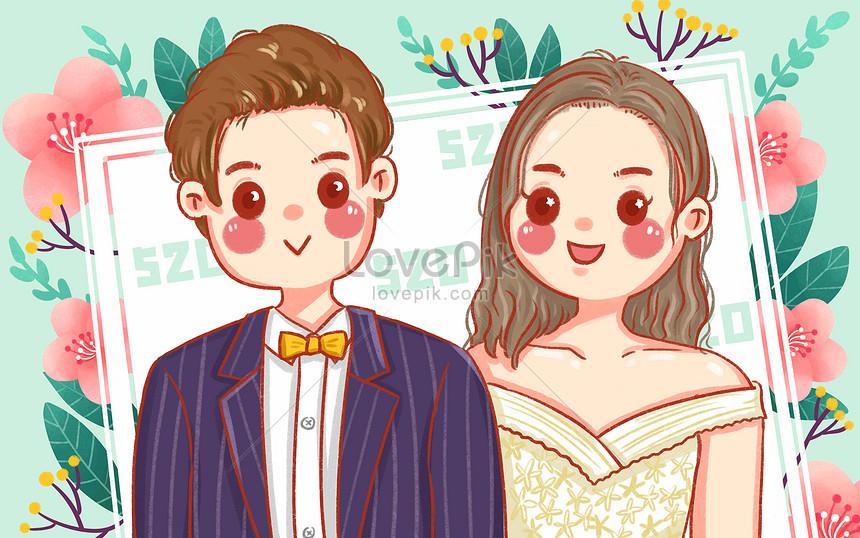 Cartoon Cute 520 Love Confession Day Illustration Suit Wedding D Illustration Image Picture Free Download 401731413 Lovepik Com