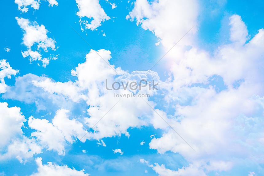 Langit Biru Dan Latar Belakang Awan Putih Gambar Unduh Gratis_ Latar  Belakang 401732706_Format Gambar PSD_lovepik.com