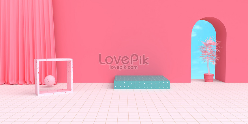 pink e commerce background