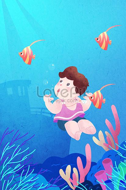 ilustração de dia mundial do oceano