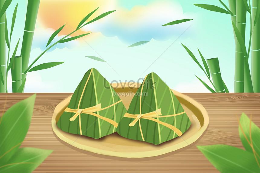 zongzi on the table