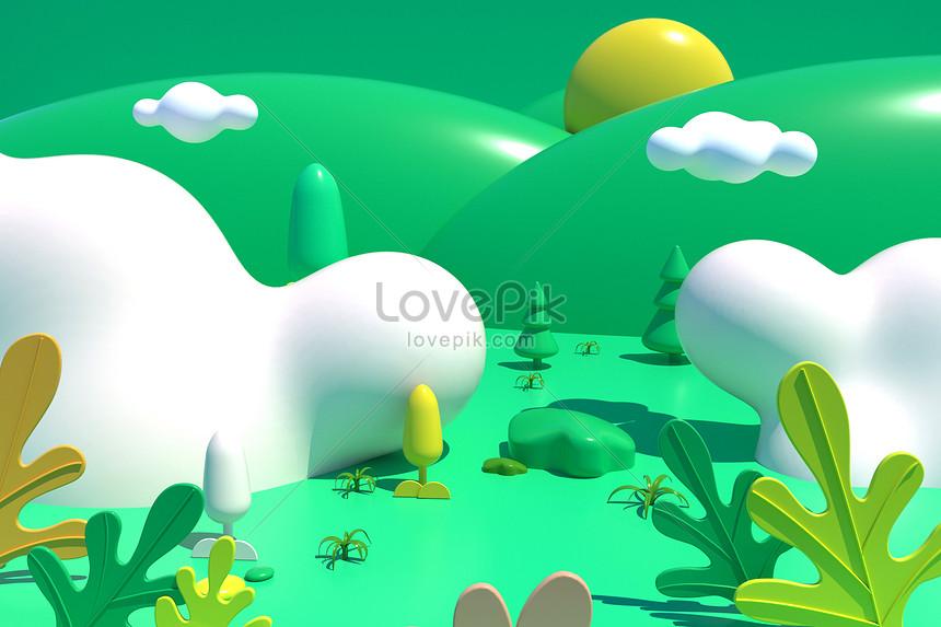 cartoon 3d illustration