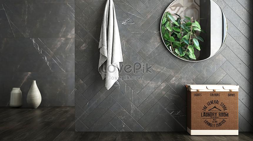 minimalist bathroom scene