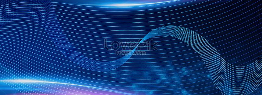 fantasy blue line technology background