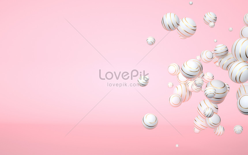 3d pink floating background