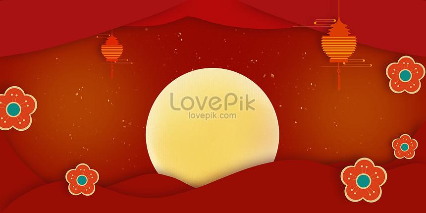 festive paper cut background