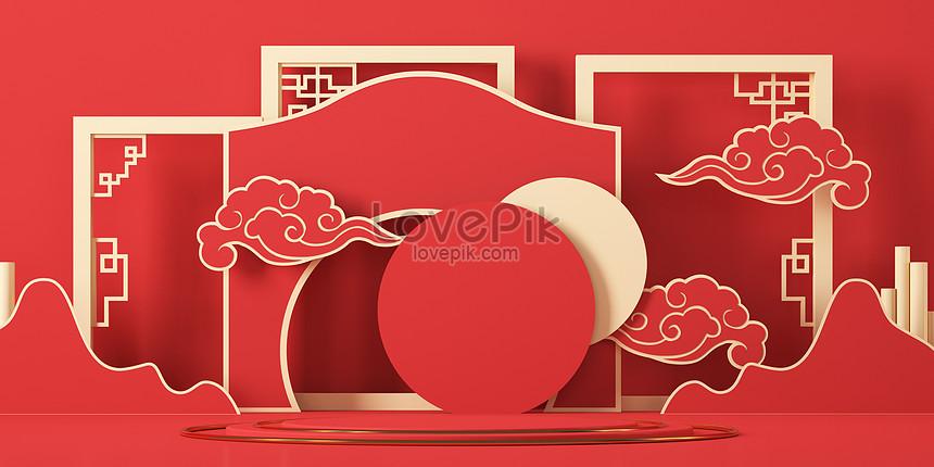 chinese new year 3d scene