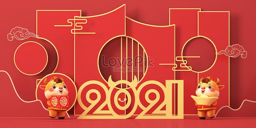 chinesische neujahrs 3d szene
