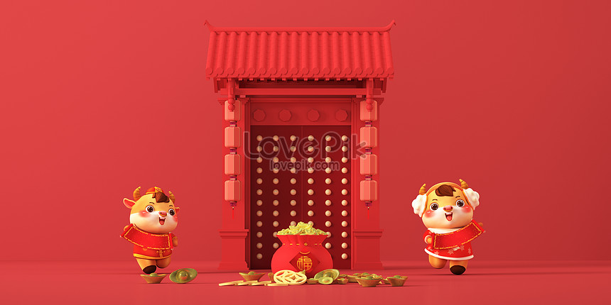 3d year of the ox image scene