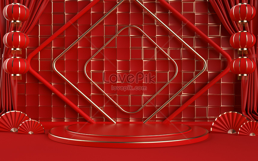 red festive chinese e commerce background