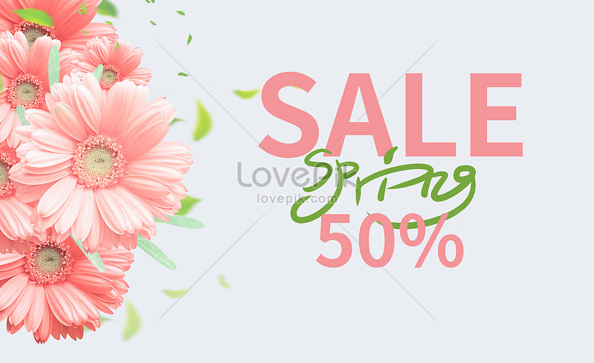 spring new promotion poster