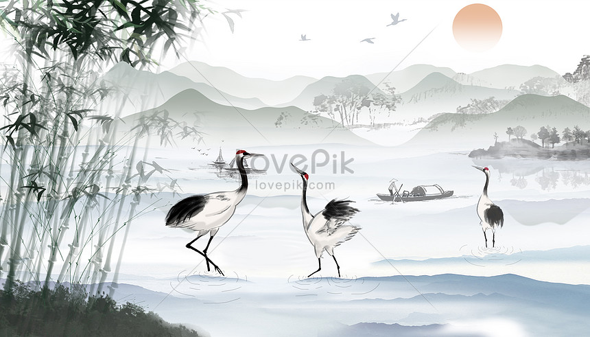 waterkin crane background
