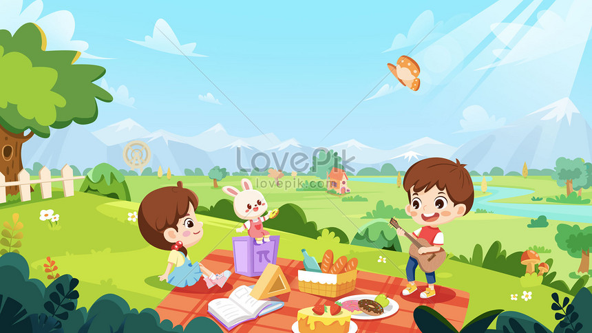 spring weekend picnic together