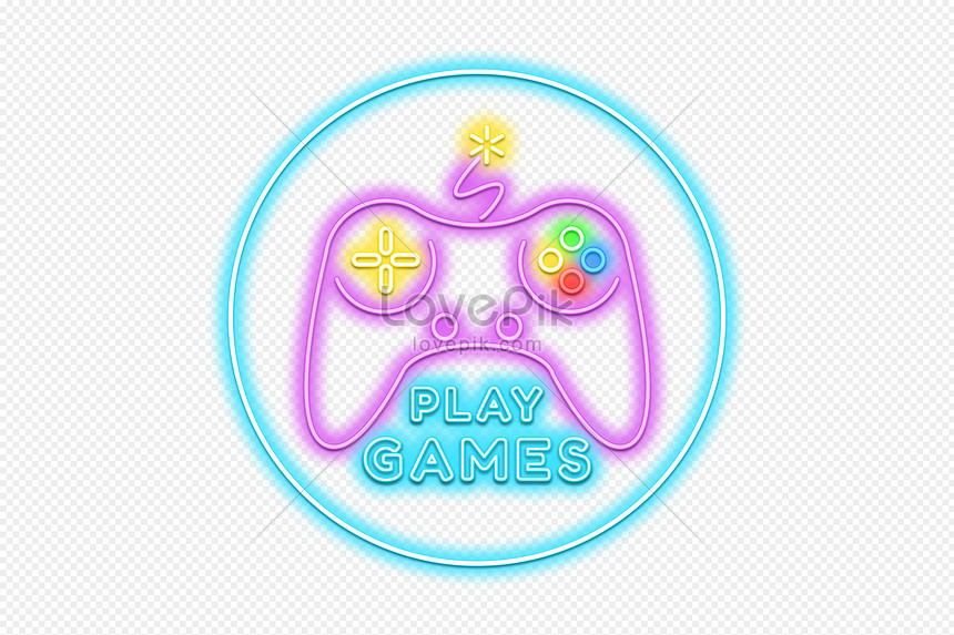 Neon Effect Video Game Signboard Png Image Picture Free Download 450000587 Lovepik Com