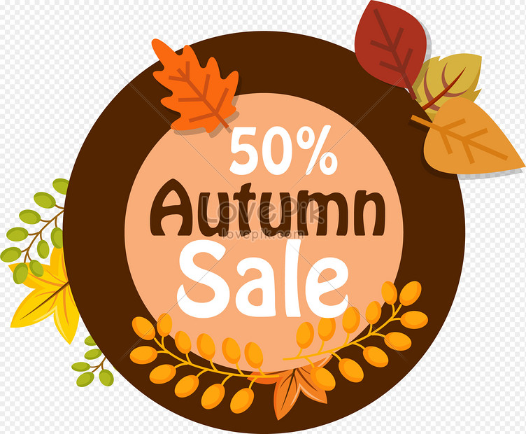 autumn sale graphics png