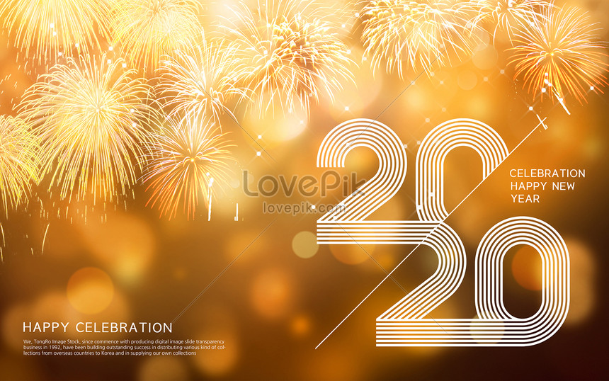 warm light gold 2020 happy new year creative