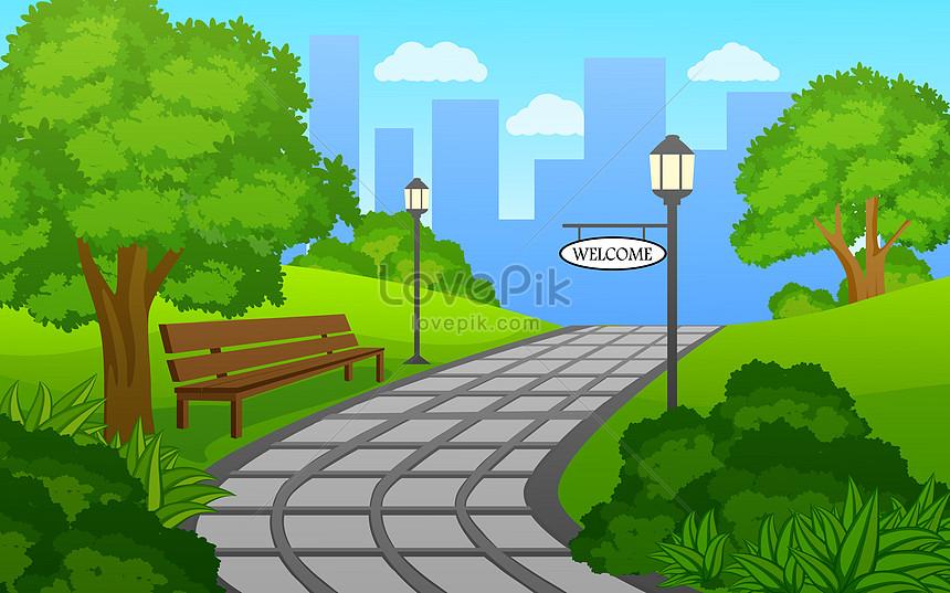 Lovepik صورة Ai 450004811 Id توضيح بحث صور حديقة عامة جميلة في المدينة
