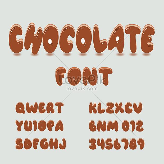 cartoon chocolate style fonts effect