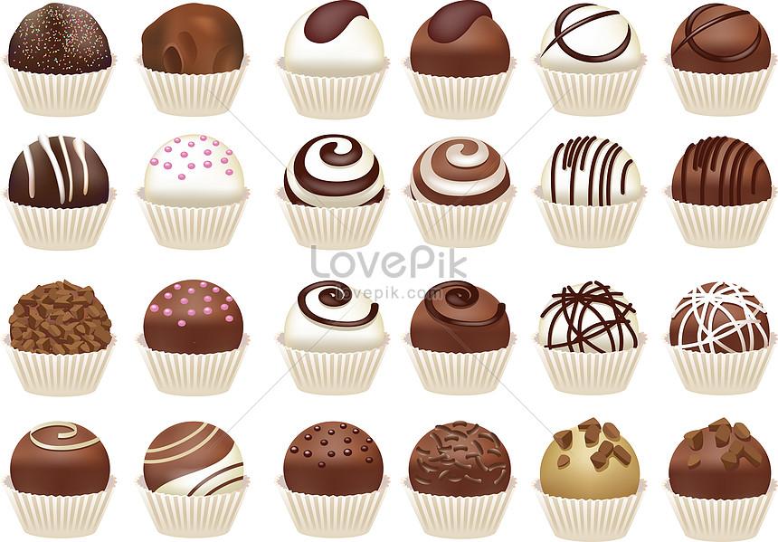 Lovepik صورة Eps 450009077 Id توضيح بحث صور مجموعة من كب كيك الشوكولاتة