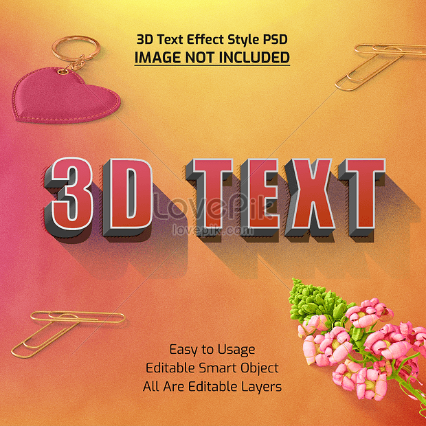 3d font effect design